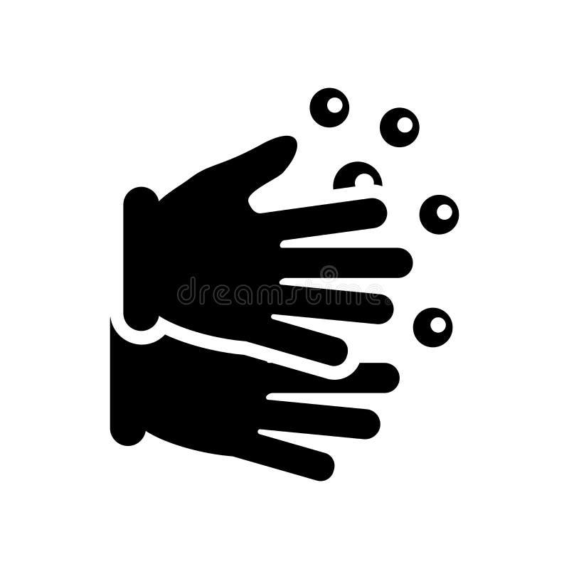 Het pictogram van de handwas  stock illustratie