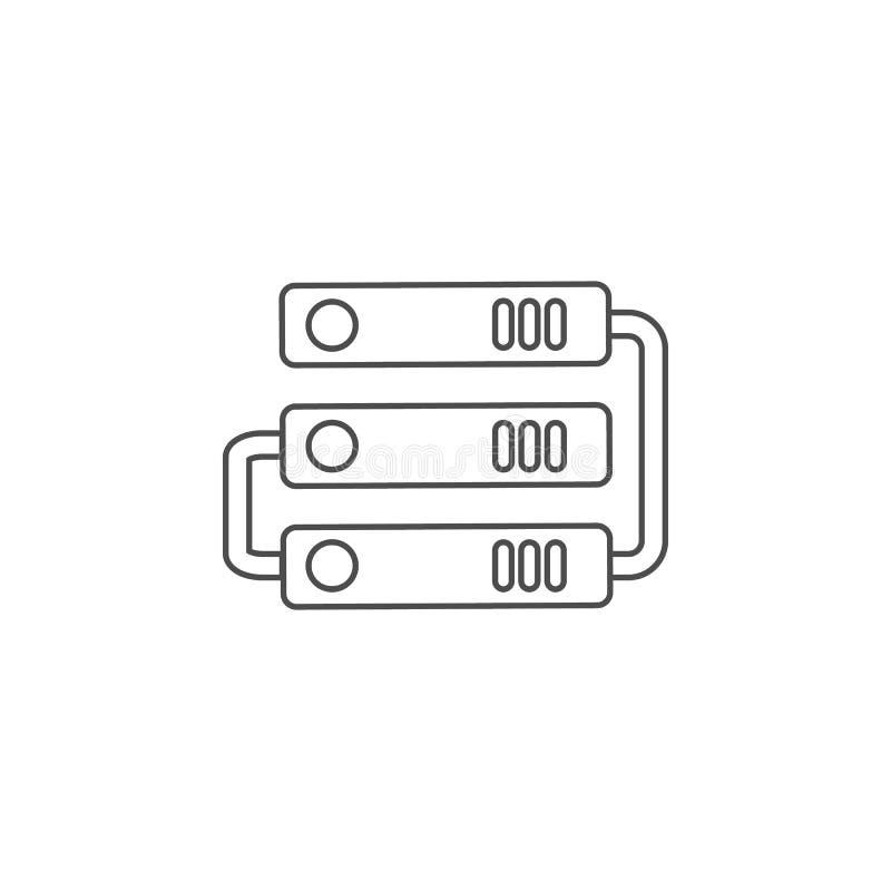 het pictogram van de harde schijfverbinding Element voor mobiel concept en Web apps Dun lijnpictogram voor websiteontwerp en ontw stock illustratie