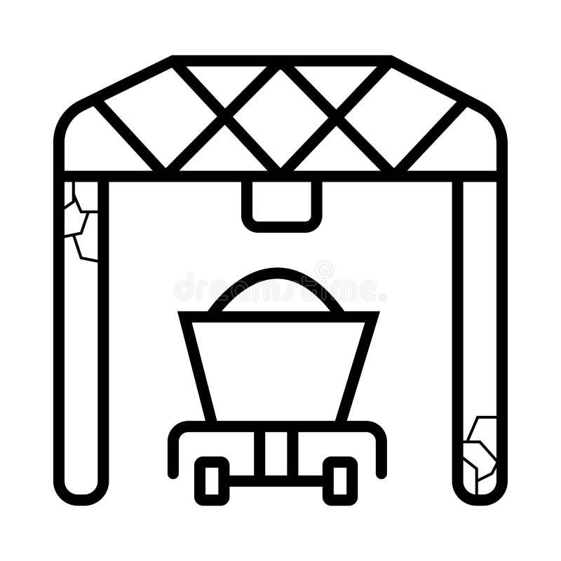 Het pictogram van de havenlader stock illustratie