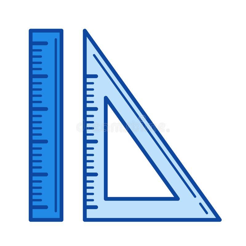Het pictogram van de heerserslijn stock illustratie