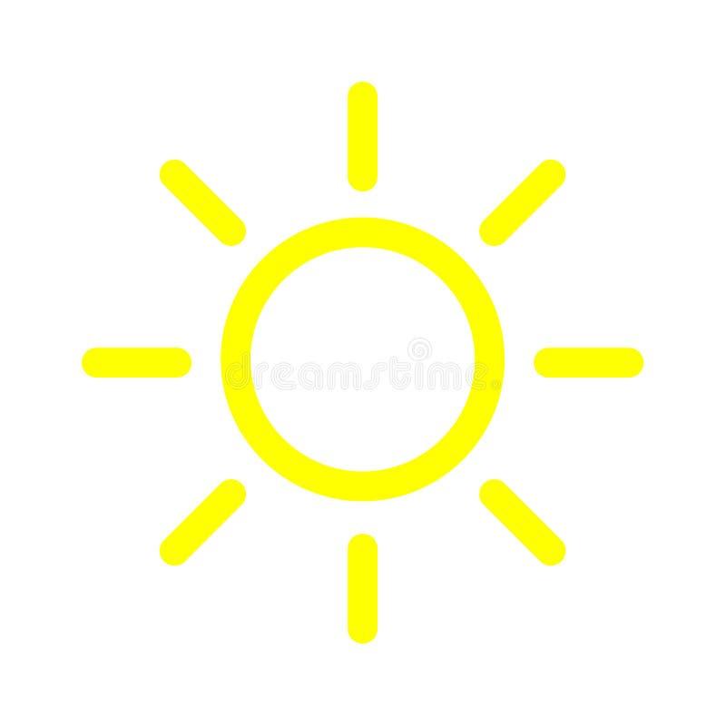 Het pictogram van de helderheidsintensiteit Geïsoleerd vectorsymbool op witte achtergrond vector illustratie