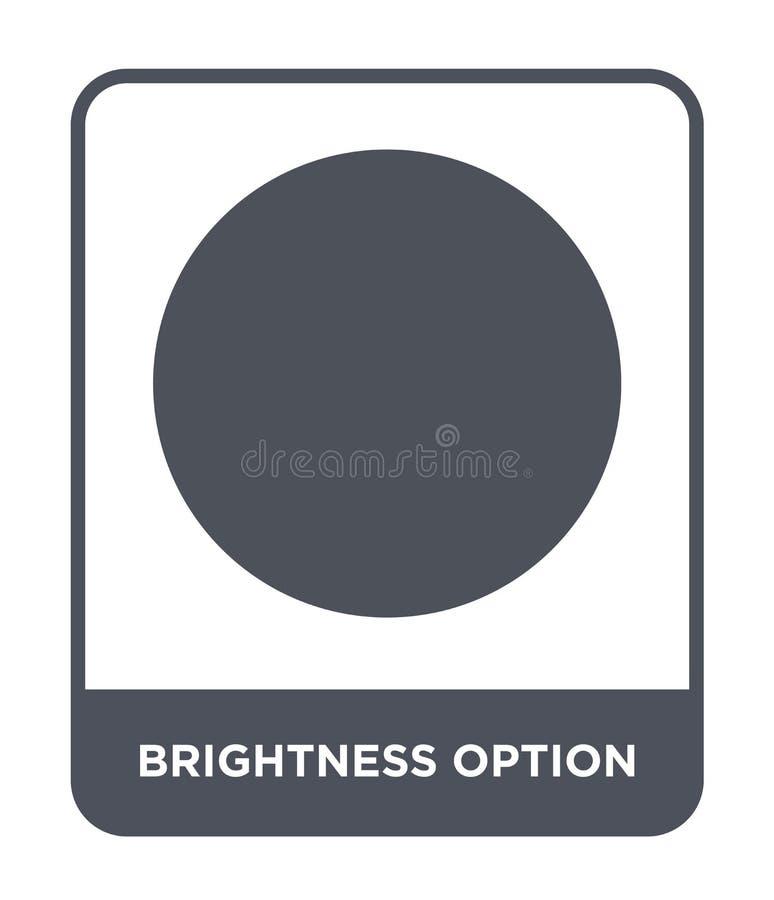 het pictogram van de helderheidsoptie in in ontwerpstijl het pictogram van de helderheidsoptie op witte achtergrond wordt geïsole vector illustratie