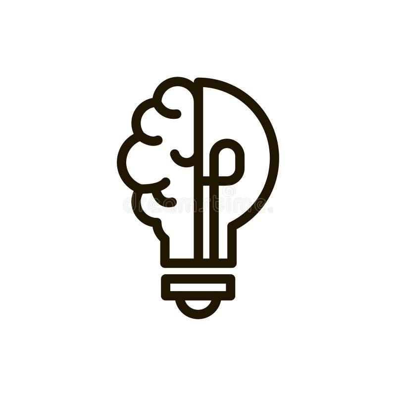 Het pictogram van de hersenenlijn vector illustratie