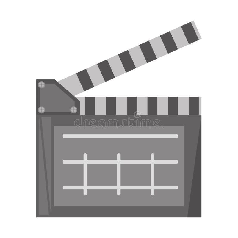 Het pictogram van de het bordscène van de filmklep stock illustratie