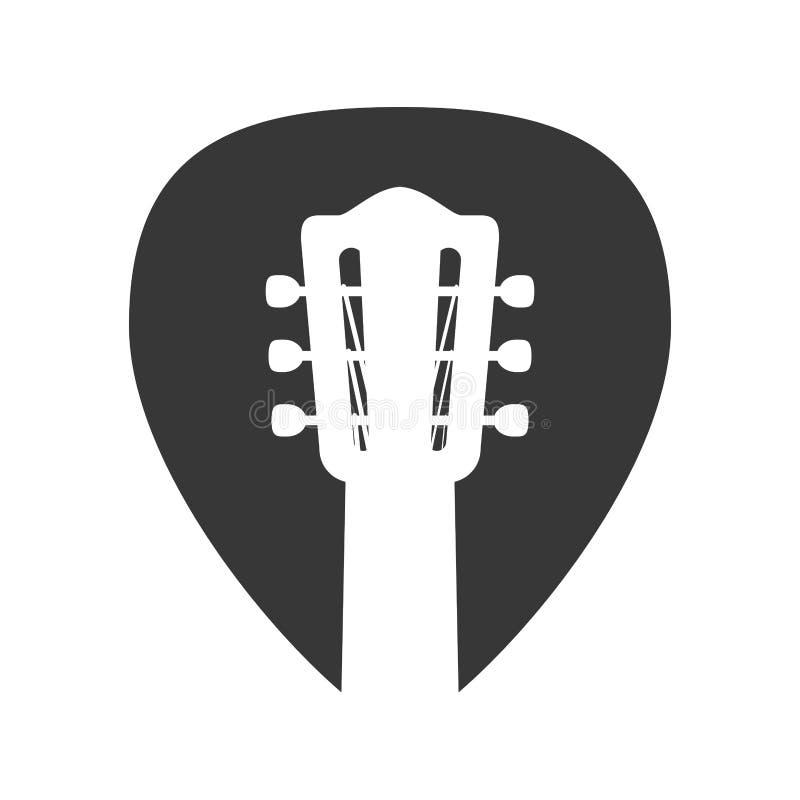 Het pictogram van de het instrumentenmuziek van het gitaarkoord Grafische vector vector illustratie