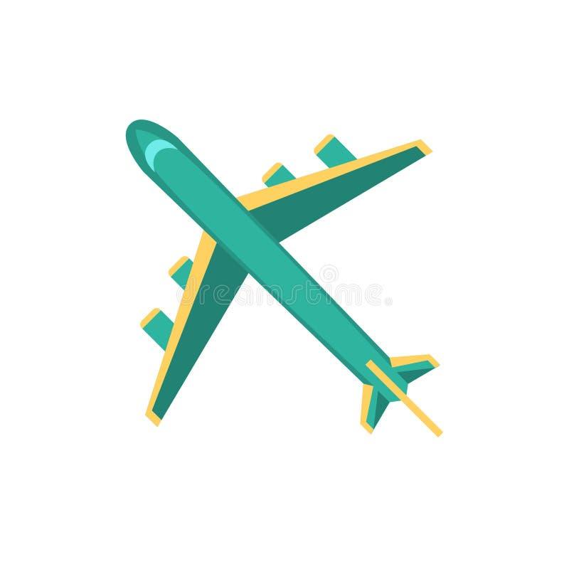 Het pictogram van de het vliegtuigillustratie van het reisvervoer stock afbeelding