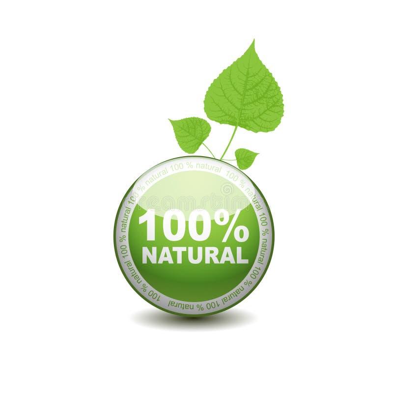 Het pictogram van de het Webdrukknop van de ecologie. 100 percenten royalty-vrije illustratie