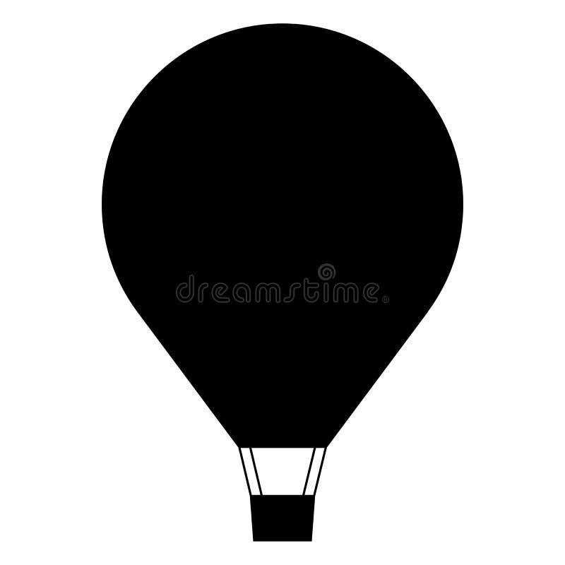 Het pictogram van de hete luchtballon, minimaal vlak stijlsymbool stock foto's