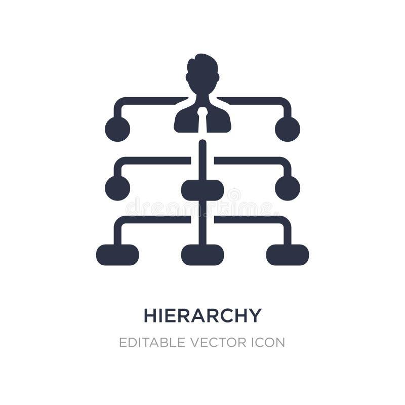 het pictogram van de hiërarchiestructuur op witte achtergrond Eenvoudige elementenillustratie van Bedrijfsconcept royalty-vrije illustratie