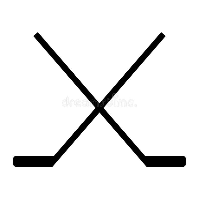 Het pictogram van de hockeystok royalty-vrije illustratie