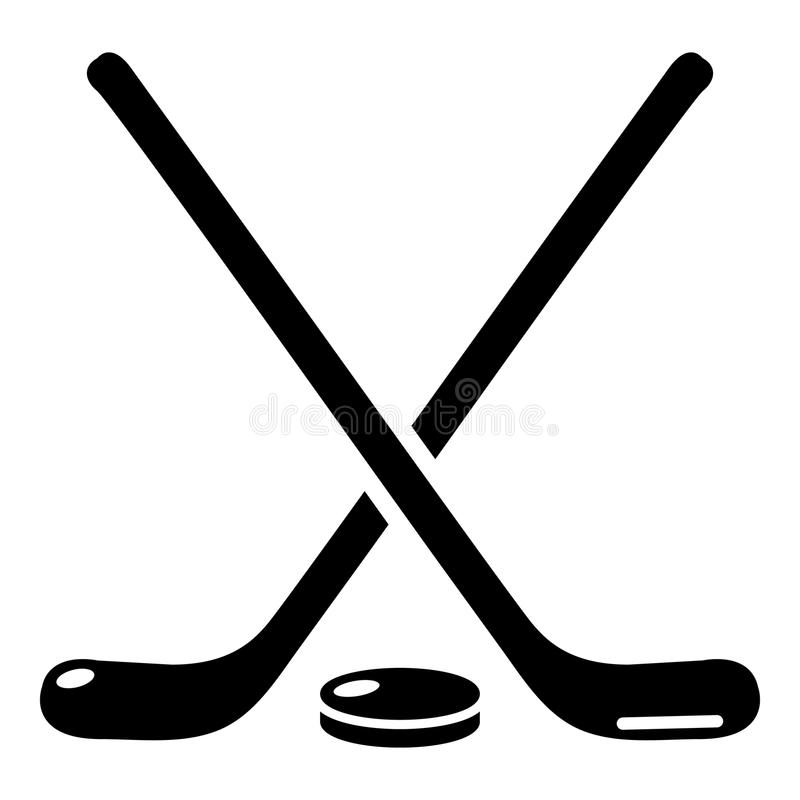 Download Het Pictogram Van De Hockeystok, Eenvoudige Zwarte Stijl Vector Illustratie - Illustratie bestaande uit doel, hockey: 107708418