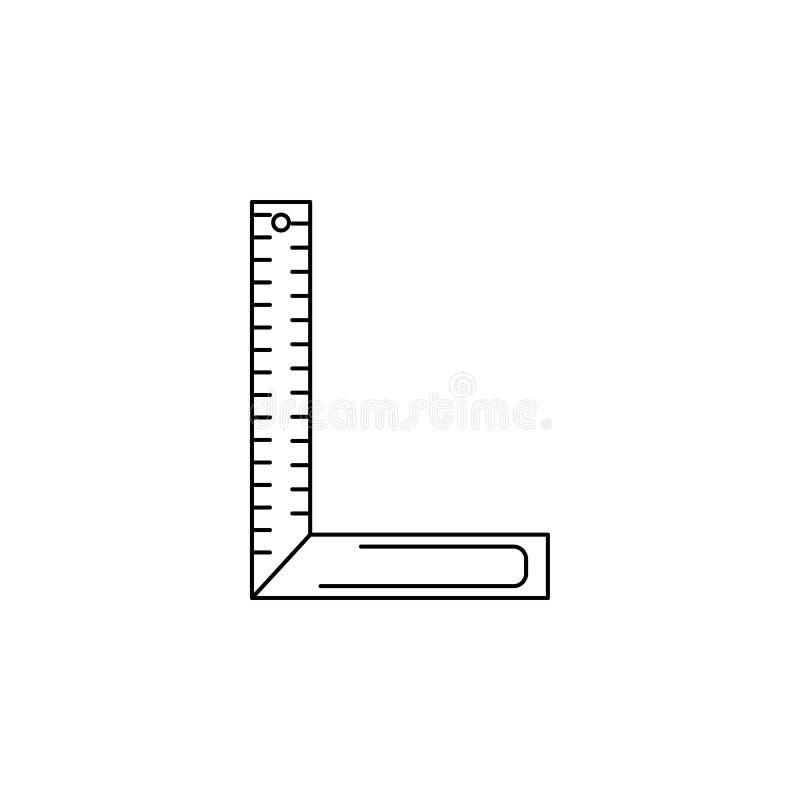 het pictogram van de hoekheerser Element van meetinstrumenten voor mobiel concept en Web apps Het dunne lijnpictogram voor websit vector illustratie