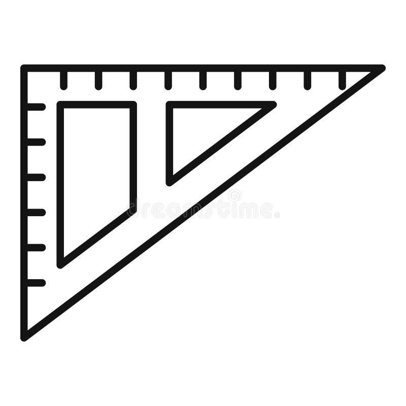 Het pictogram van de hoekheerser, overzichtsstijl vector illustratie