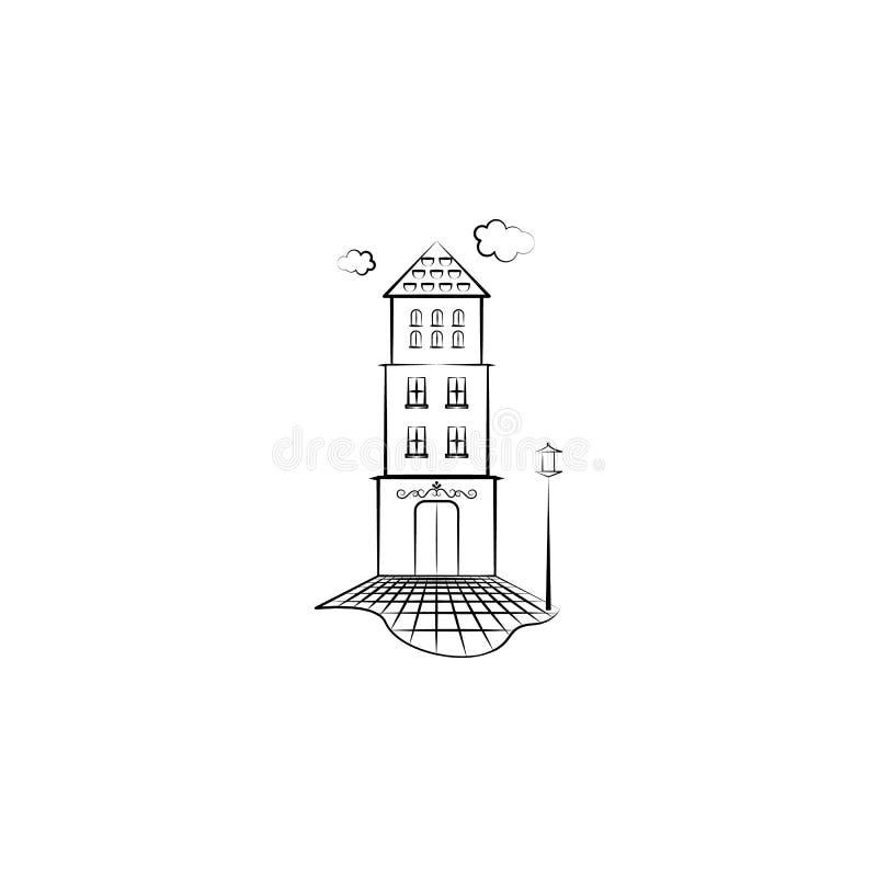 Het pictogram van de Home_lantaarn Element van hand getrokken Denkbeeldig huispictogram voor mobiele concept en webtoepassingen K vector illustratie