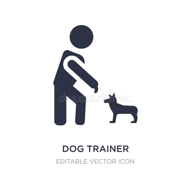 het pictogram van de hondtrainer op witte achtergrond Eenvoudige elementenillustratie van Mensenconcept stock illustratie