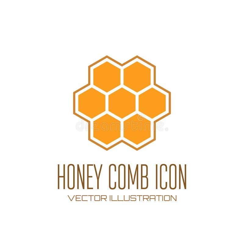 Het pictogram van de honingskam vector illustratie