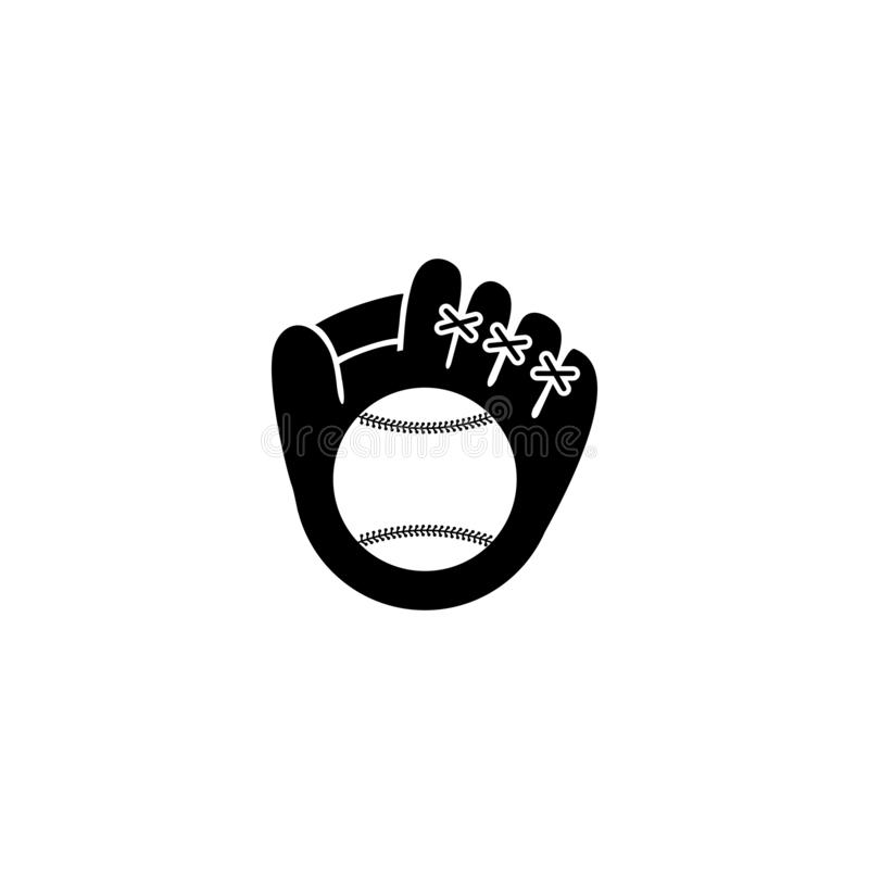 Het pictogram van de honkbalhandschoen royalty-vrije illustratie