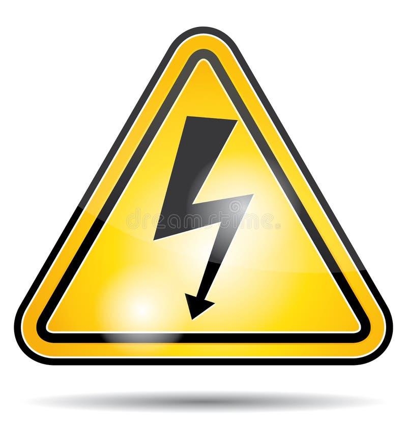 Het pictogram van de hoogspanningselektriciteit stock illustratie