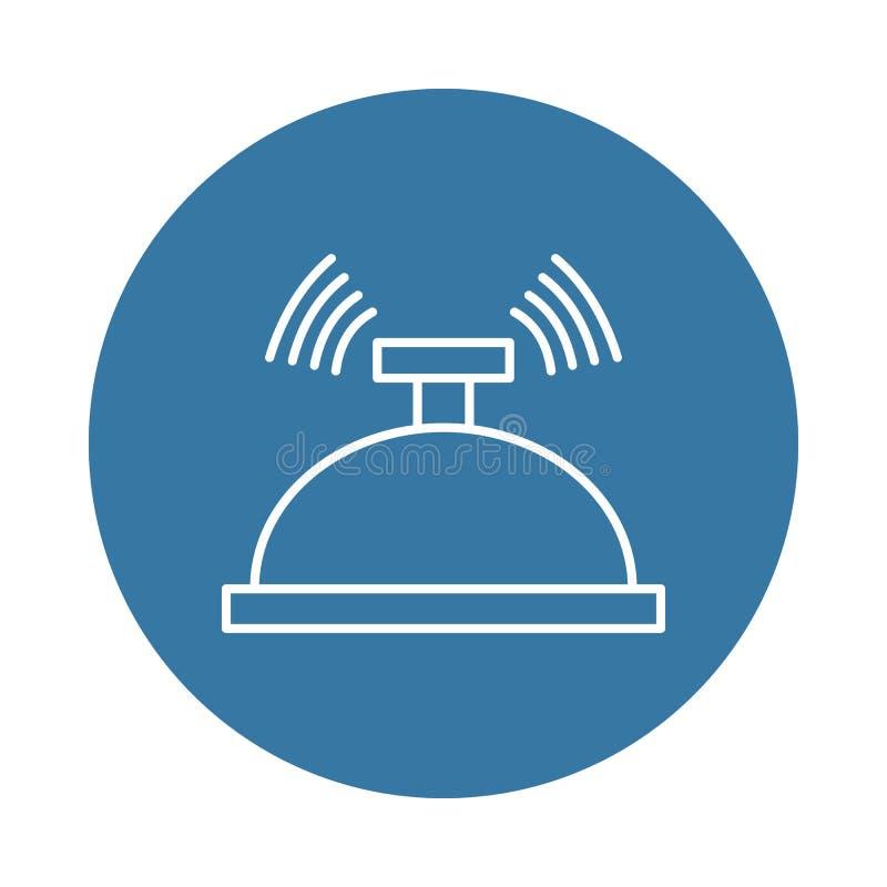 het pictogram van de hotelvraag Element van hotelpictogrammen voor mobiel concept en Web apps Het pictogram van de het hotelvraag stock illustratie