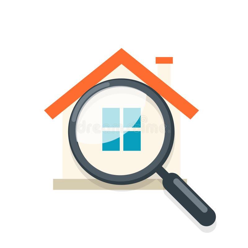 Het pictogram van de huisinspectie stock illustratie