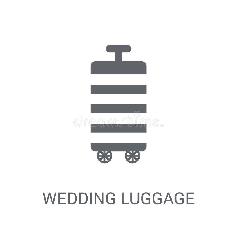 het pictogram van de huwelijksbagage  vector illustratie