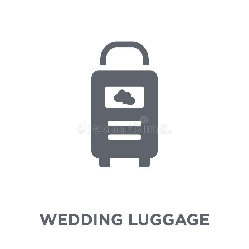 het pictogram van de huwelijksbagage van Huwelijk en liefdeinzameling vector illustratie