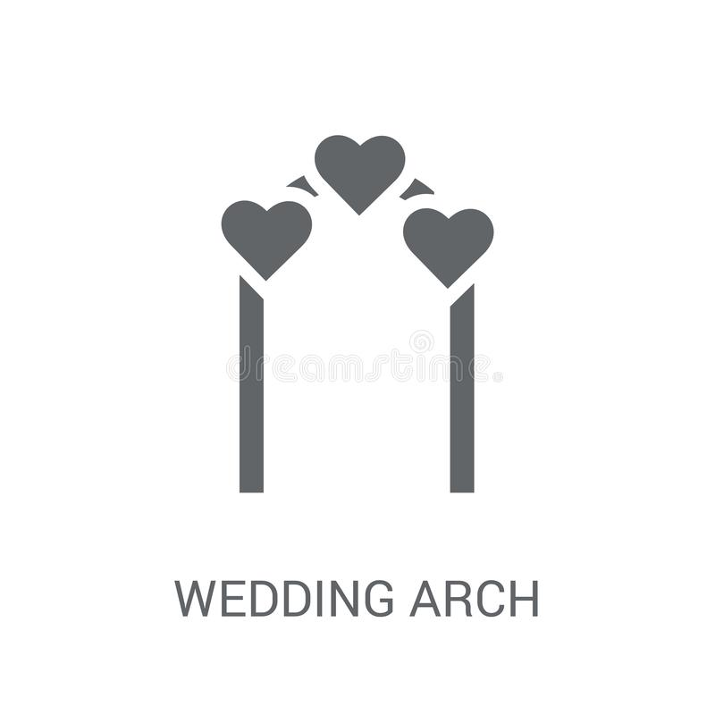 Het pictogram van de huwelijksboog  vector illustratie