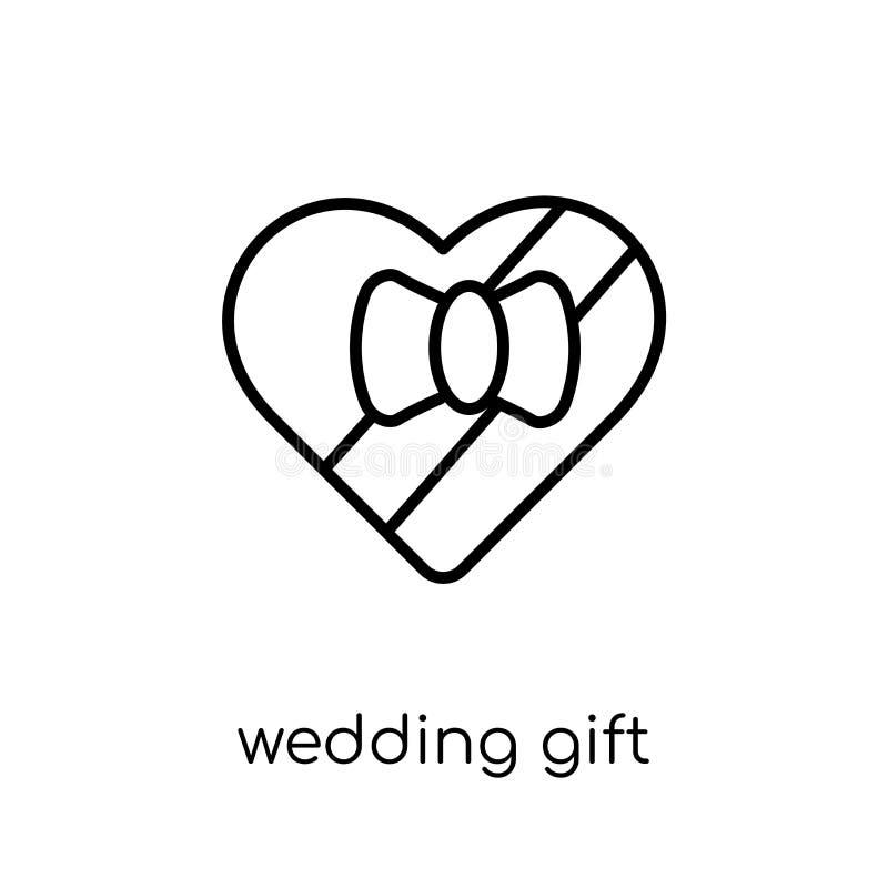 het pictogram van de huwelijksgift van Huwelijk en liefdeinzameling vector illustratie