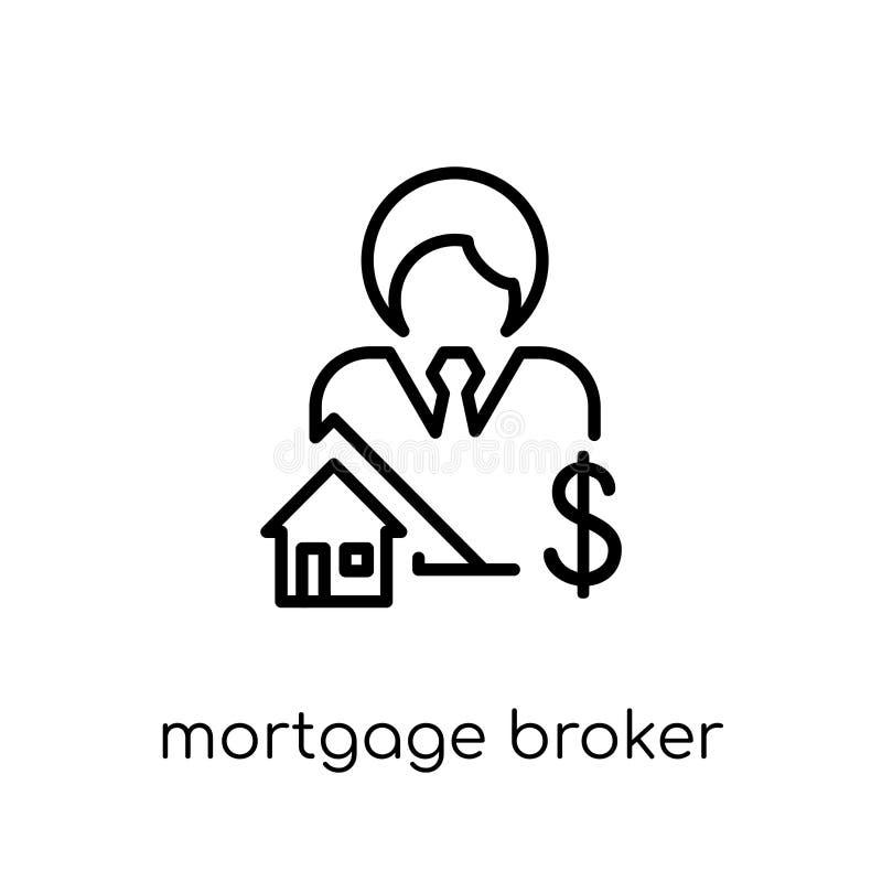Het pictogram van de hypotheekmakelaar  vector illustratie