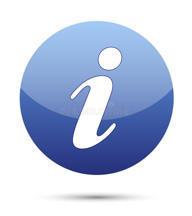 Het pictogram van de informatie stock illustratie