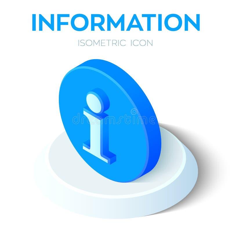 Het pictogram van de informatie 3D Isometrisch Informatieteken Gecreeerd voor Mobiel, Web, Decor, Drukproducten, Toepassing Perfe vector illustratie