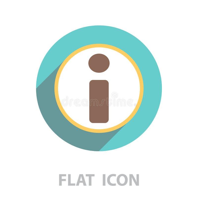Het pictogram van de informatie Vector illustratie royalty-vrije illustratie