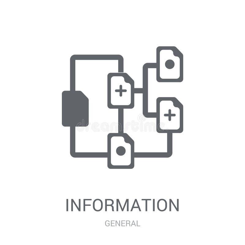 het pictogram van de informatiearchitectuur  stock illustratie