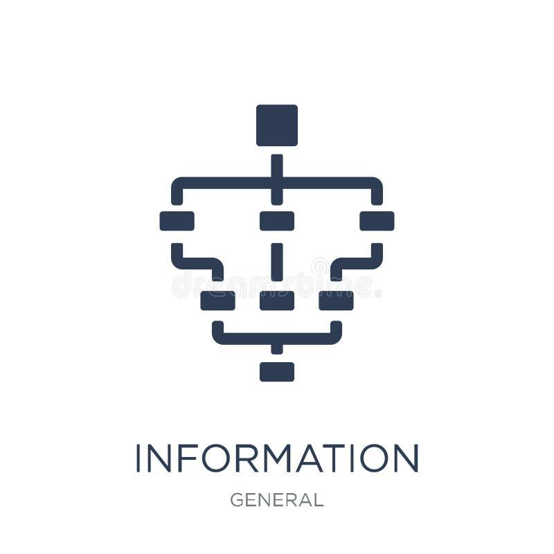 het pictogram van de informatiearchitectuur In vlakke vectorinformatie AR vector illustratie
