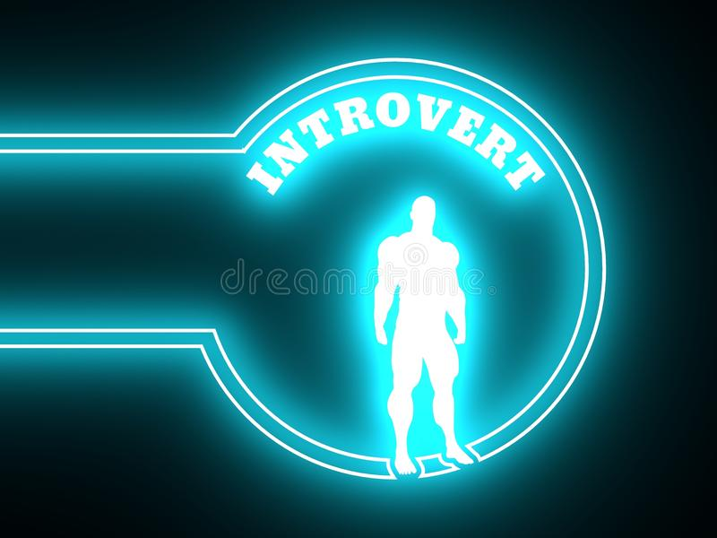 Het pictogram van de introvertmetafoor royalty-vrije illustratie