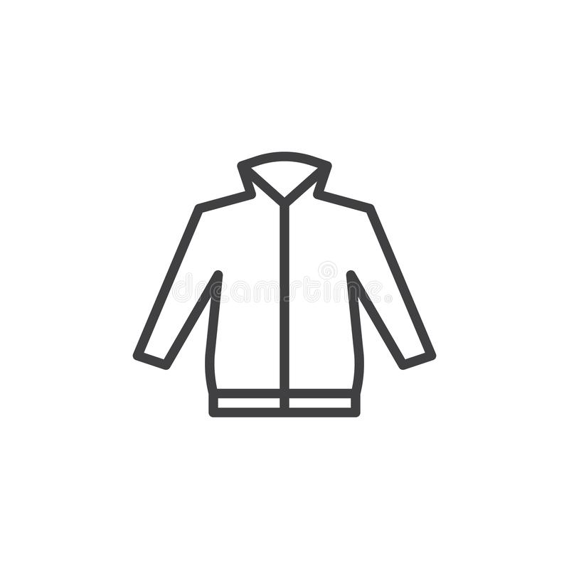 Het pictogram van de het jasjelijn van mensen vector illustratie