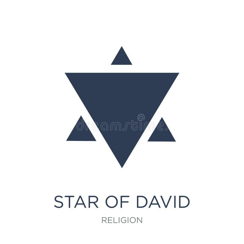 Het pictogram van de jodenster  stock illustratie