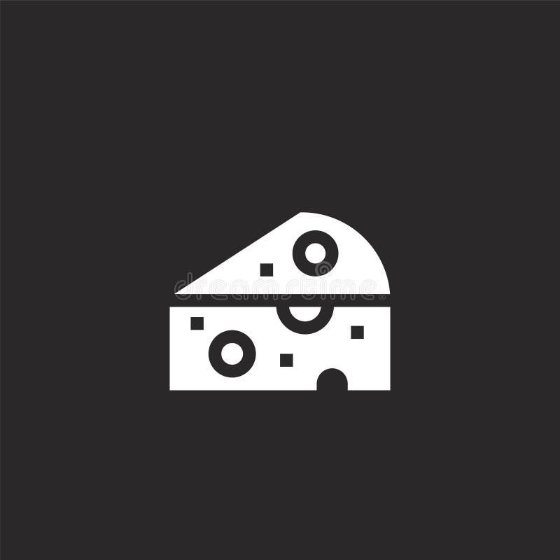 Het pictogram van de kaas Gevuld kaaspictogram voor websiteontwerp en mobiel, app ontwikkeling kaaspictogram van de gevulde geïso royalty-vrije illustratie