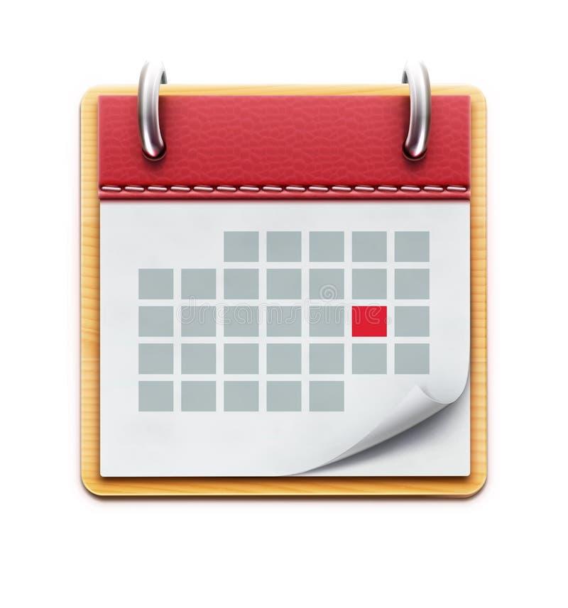 Het pictogram van de kalender royalty-vrije illustratie