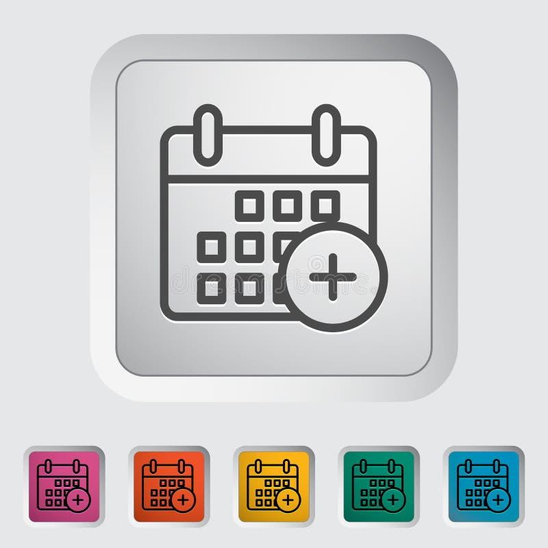 Het pictogram van de kalenderslag royalty-vrije illustratie