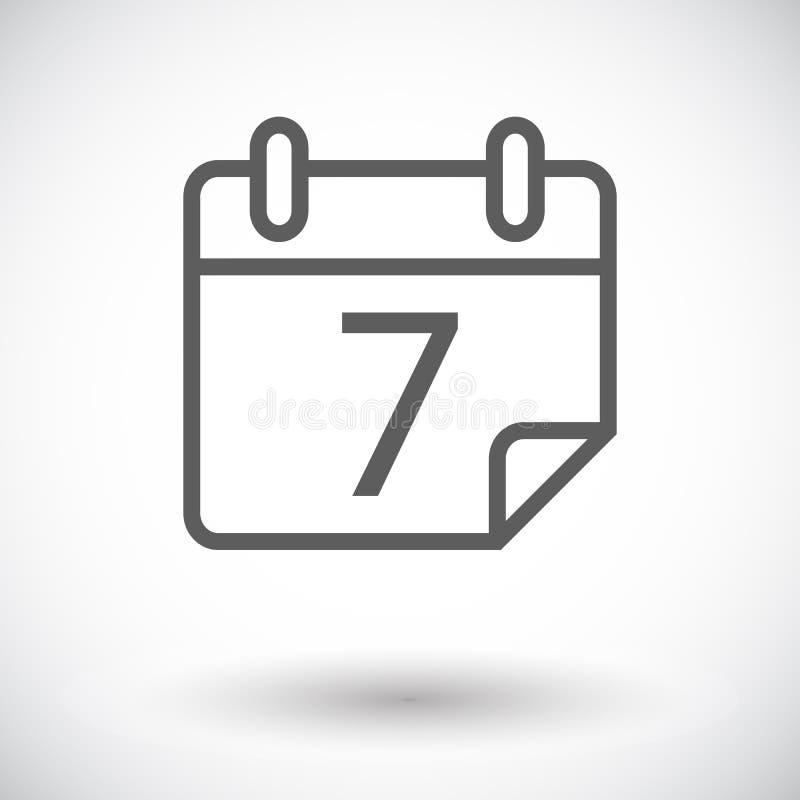 Het pictogram van de kalenderslag stock illustratie