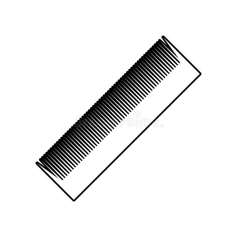 Het pictogram van de kam Element van Schoonheidssalon voor mobiel concept en webtoepassingenpictogram Overzicht, dun lijnpictogra royalty-vrije illustratie