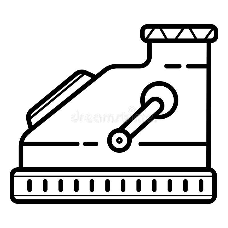 Het pictogram van de kassamachine vector illustratie