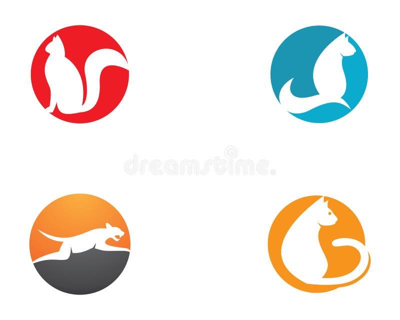 Het pictogram van de kat stock illustratie