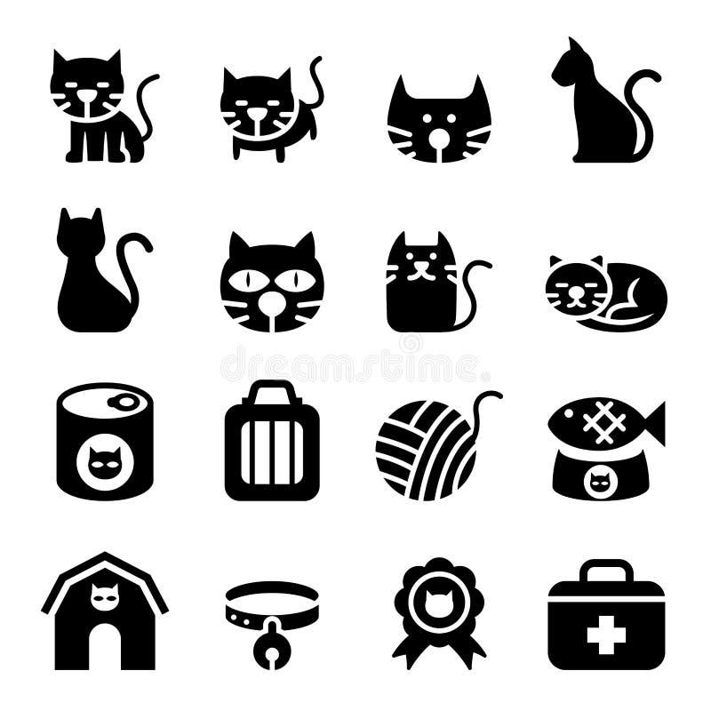 Het pictogram van de kat vector illustratie