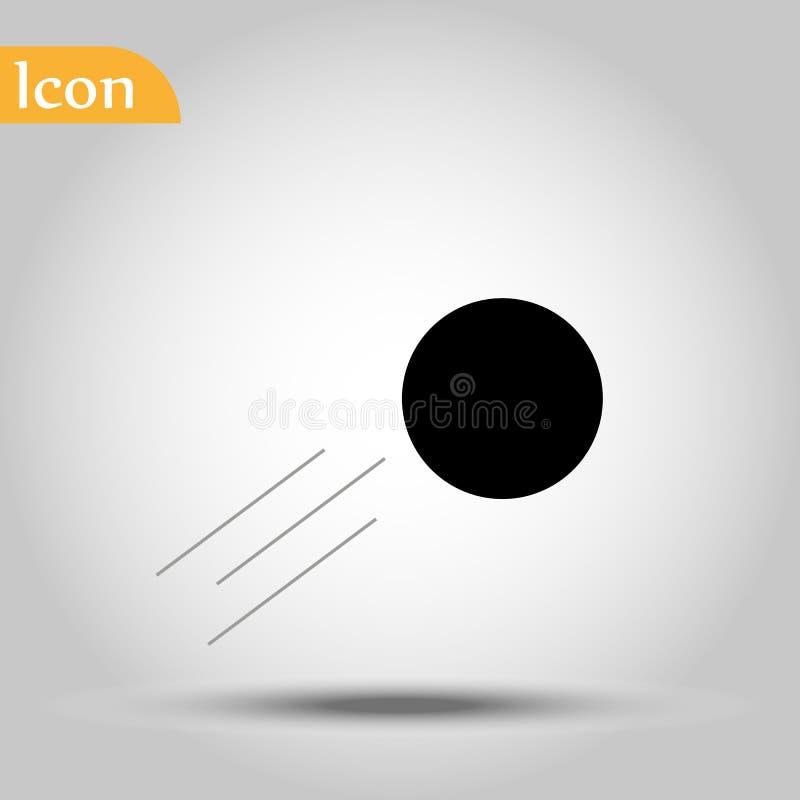 Het pictogram van de kegelenbal op zwarte achtergrond voor grafisch en Webontwerp, Modern eenvoudig vectorteken Het concept van I royalty-vrije illustratie