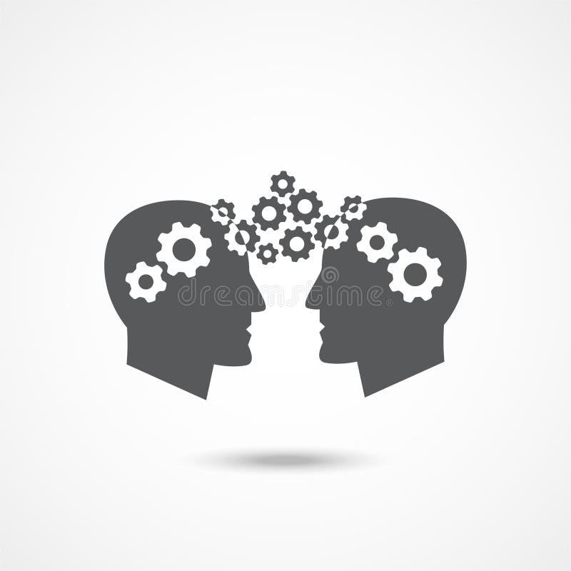 Het Pictogram van de kennisoverdracht vector illustratie
