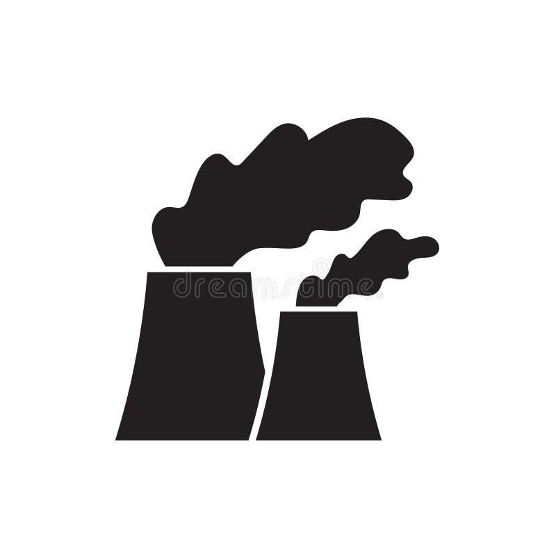 Het pictogram van de kern of steenkoolelektrische centrale stock illustratie