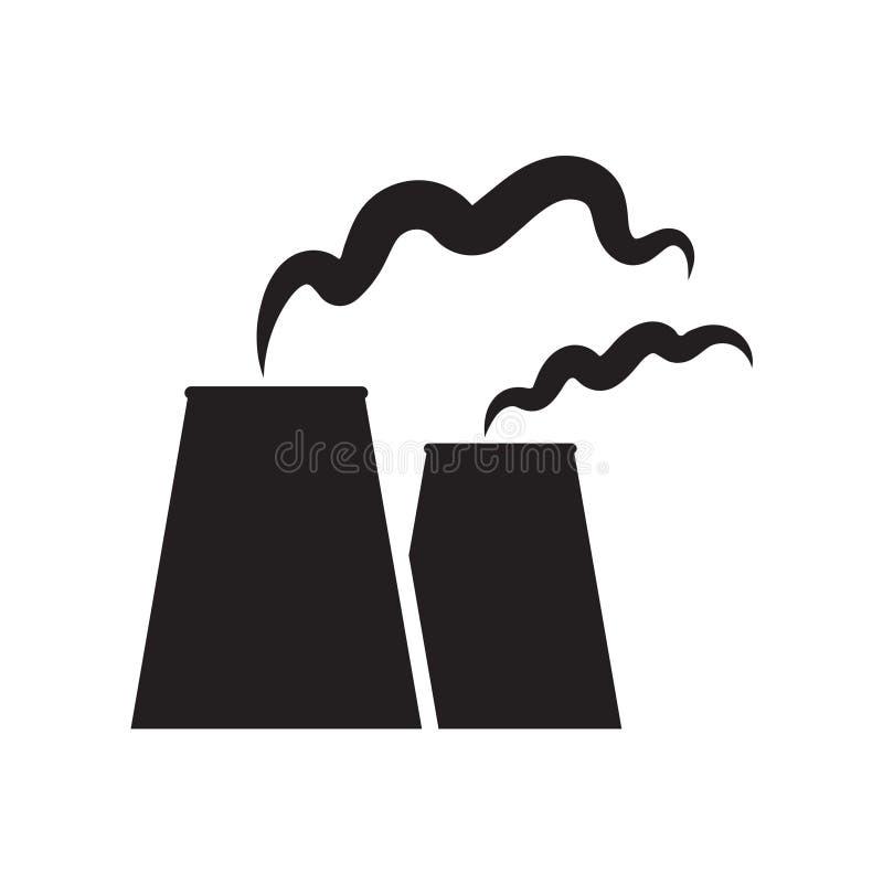 Het pictogram van de kern of steenkoolelektrische centrale vector illustratie
