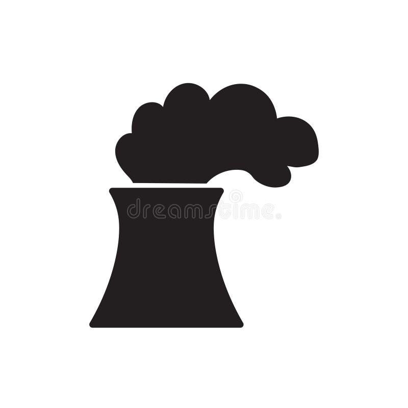 Het pictogram van de kern of steenkoolelektrische centrale royalty-vrije illustratie